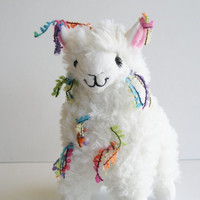 Plush llama. Little Llama Decorated with Tassles ...Just like the Llamas of Fox Hill!