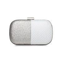 Silver Two Tone Minaudiere by BCBGeneration
