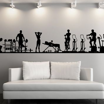 Large Vinyl Decal Wall Sticker Fitness Gym Sport Athletic Interior Decor (n839)
