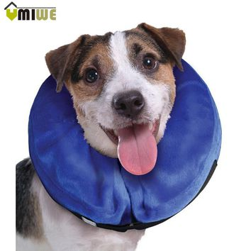 Inflatable Pet Supplies Cat Dog Recovery Wound Healing Protective Collar Anti-bite PVC Comfortable E-Collar With Zipper S-XL