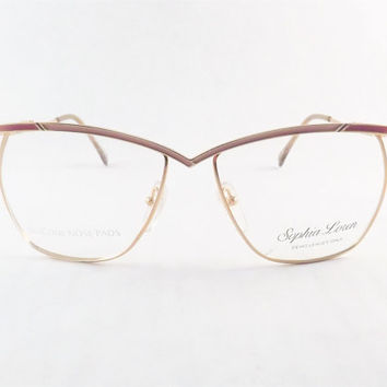 womens eyeglasses industrial metal frames funky gold pink or silver blue frame metal glasses