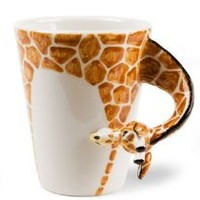 Amazon.com: Giraffe Handmade Coffee Mug (10cm x 8cm): Kitchen & Dining