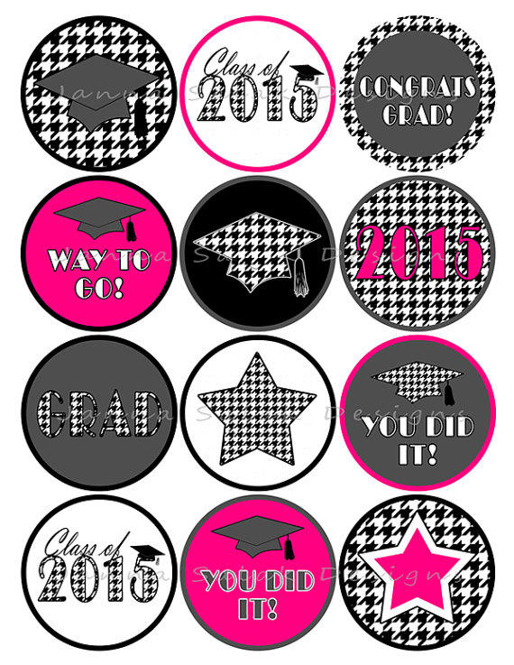 Graduation Printable Cupcake Toppers or from ...