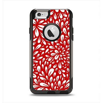 The Red Vector Floral Sprout Apple iPhone 6 Otterbox Commuter Case Skin Set