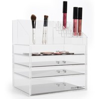 Moxie Makeup Box™ Acrylic Makeup Organizer With Magnetic Palette Drawers