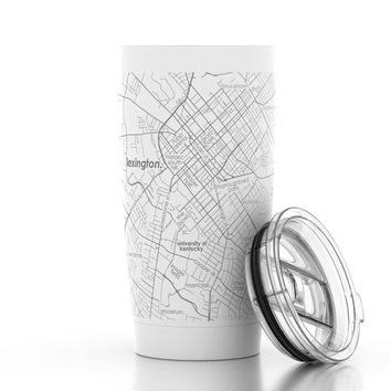 College Town Map 20 oz Insulated Tumbler