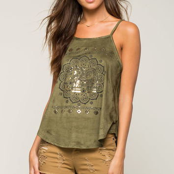 Metallic Elephant Halter Top