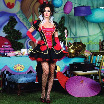 adult queen of hearts halloween costumes Alice In Wonderland cosplay costume fantasies women party y fancy dress Alternative Measures - Brides & Bridesmaids - Wedding, Bridal, Prom, Formal Gown