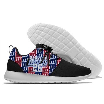 Runing Men and Women Giants football players Barkley Beckham Collins Shepard Strahan Taylor Walking Confortable New York shoes
