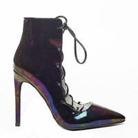 JEFFREY CAMPBELL SUGARPLUM BOOTIE - PATENT IRIDESCENT