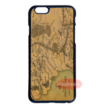The Lord Of The Rings Map Cover Case for Samsung S2 S3 S4 S5 Mini S6 Edge Plus Note 2 3 4 5 iPhone 4S 5 5S 5C 6 6S Plus iPod 4 5