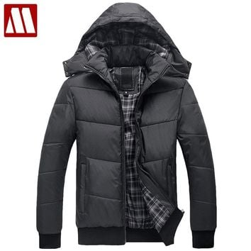 Men's winter Hoodies quilted jacket warm fashion male puffer overcoat parka Outwear Winter cotton-padded Man hooded coat S-XXXL