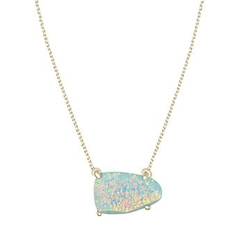 Isla Necklace in Aqua Kyocera Opal - Kendra Scott Jewelry