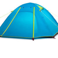 Double Layer 4 Person 215*215*130 cm  Outdoor Camping Hike Travel Tent