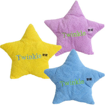 Bulk Plush Star-Shaped Musical Pillows, 8 in. at DollarTree.com