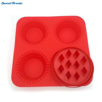 Sweettreats silicone pie maker with Bonus 2 Pie Cutters Pies,Fast & Easy Baking! Dishwasher Safe!