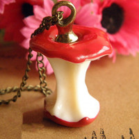 Snow White red apple necklace jewelry