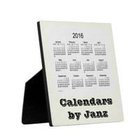 2016 Ivory Desk Calendar by Janz Photo Plaques