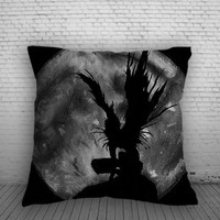 Shinigami No Ryuks Pillow, Pillow Case, Pillow Cover, 16 x 16 Inch One Side, 16 x 16 Inch Two Side, 18 x 18 Inch One Side, 18 x 18 Inch Two Side, 20 x 20 Inch One Side, 20 x 20 Inch Two Side