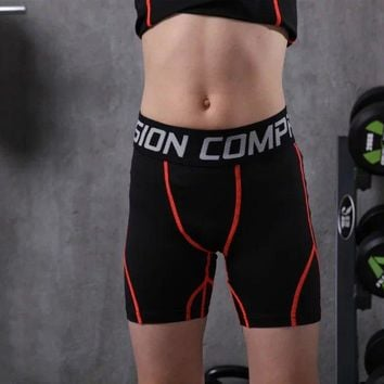 kids running tights boys tight shorts youth compression fitness workout gym bodybuilding trousers kids breathable sports shorts