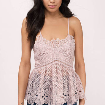Acquainted Lace Peplum Top