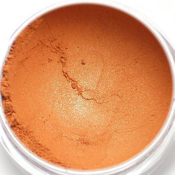 Shimmery Orange Eyeshadow - RIKKU - Vegan Mineral Eyeshadow Net Wt 1g Mineral Makeup Eye Color Pigment