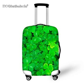 DOGINTHEHOLE Green Leaves Travel Accessories on Road Luggage Cover Dust-proof Travel Bag Cover Travel Accessories Supplies