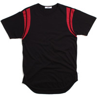 Shoulder Panel Original Long T-Shirt Black / Red