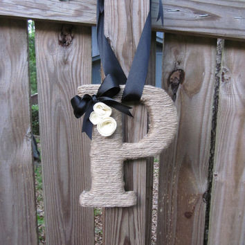 Jute Twine Wrapped Letter Monogram, Initial- Made to order