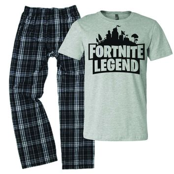 fortnight legend pajamas for boys youth pjs