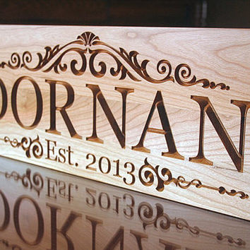 5th Anniversary Sign, Carved Wooden Sign,  Benchmark Custom Signs Cherry LM
