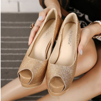 Women Glitter Stilettos Heels 14cm Pumps