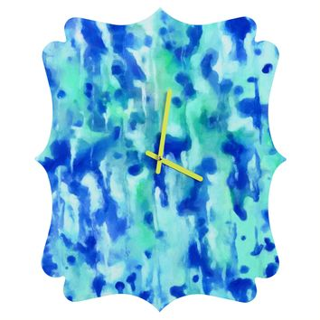 Rosie Brown Blue On Blue Quatrefoil Clock