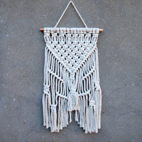 Bedroom wall decor Macrame wall hanging Boho home decor Woven wall hanging White interior decor Birthday gift for mother macrame decor