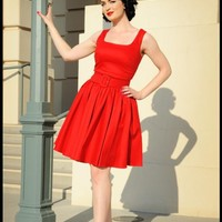 Lana Dress in Red Canvas  | Pinup Girl Clothing