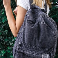Afends - Nevermind Denim Backpack - Black Acid Wash