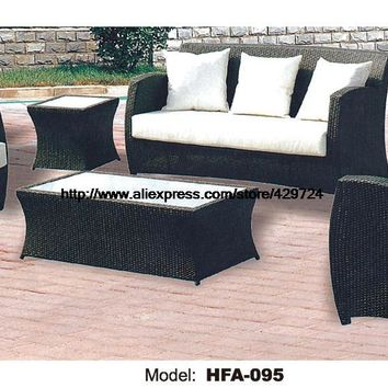 Rattan Chair Sofa Set with Outdoor Table Vine Garden Outdoor Patio Furniture Sofa Factory Direct Sale Sofa Furniture HFA095