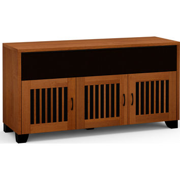 Sonoma 65 Inch TV Stand Cabinet Soundbar Opening American Cherry