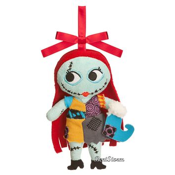 Licensed cool Disney Store Nightmare Before Christmas SALLY Rag Doll Plush Christmas Ornament