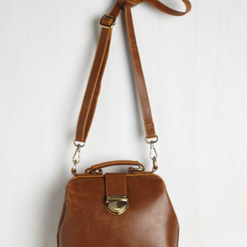Vintage Inspired Enroll With It Bag in Chestnut by ModCloth