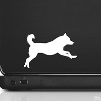 Siberian Husky Silhouette Vinyl Sticker Decal - Good for Cars, Walls, Ipads, Etc