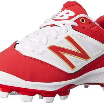 new balance pl4040v3 tpu molded cleats low cut red white