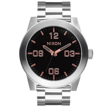 Men's Nixon The Corporal SS Stainless Steel Rose Gold-Tone Watch