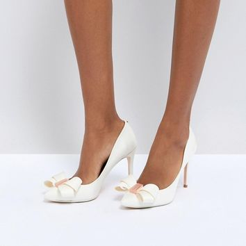 Ted Baker Tie The Knot Skalett Heeled Shoes at asos.com