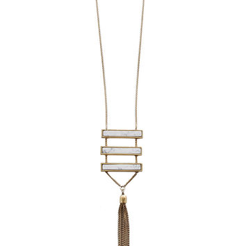 Manhattan Tassel Necklace