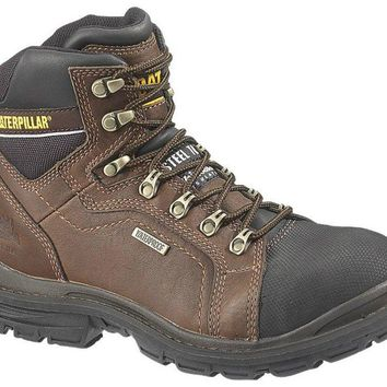 Cat® P89981-8W Caterpillar Mens Manifold Waterproof Steel Toe Work Boot # 8, Oak