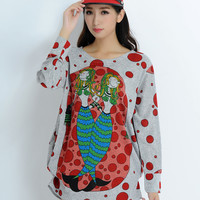 [DEAL OF THE DAY] Dear Deer Women's Comfortable Graphic Sweater Top