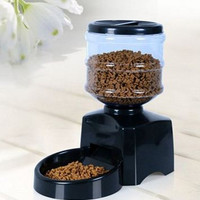 Digital Display Pet Cat Dog Feeder Food Bowl Dispenser