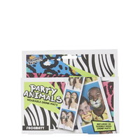 Pack of 20 Party Animals Drinking Mats - Multi