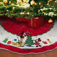 Mickey Mouse and Friends Tree Skirt - Holiday - Personalizable
